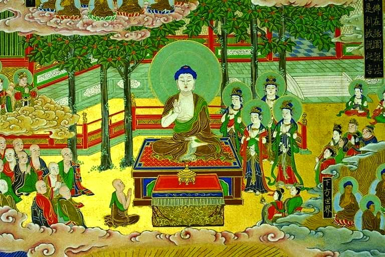 Shakyamuni preaching Amida Dharma