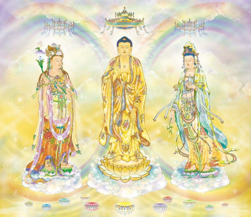Three Holy Ones of Sukhavati by Yilin Fashi
